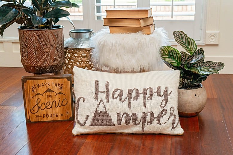 Happy Camper Knit Pillow (1)