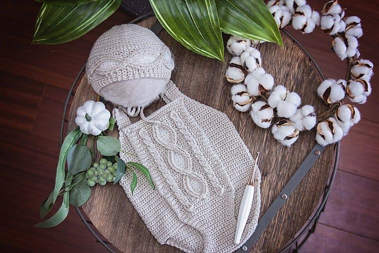 Eyelet Crochet Romper
