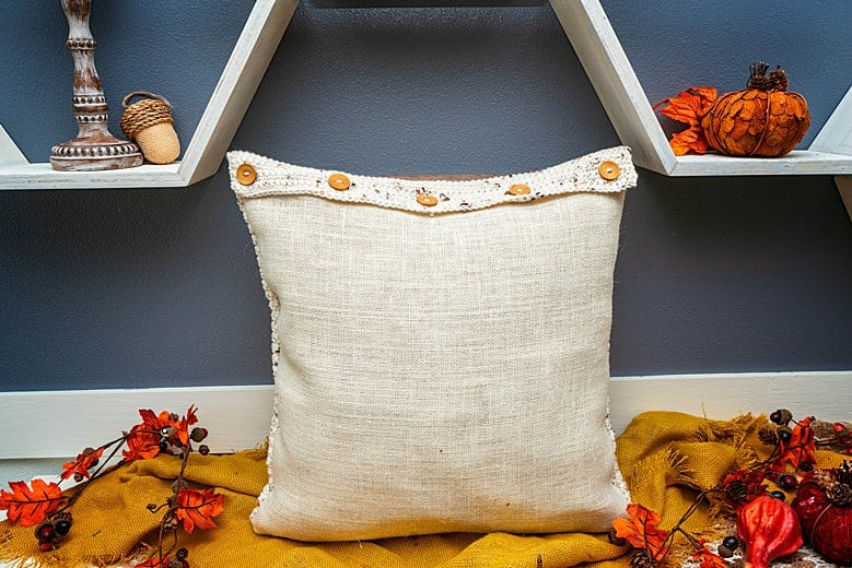 Hello Fall Crochet Pillow