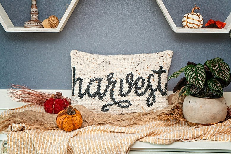 Harvest Free Crochet Pillow Pattern