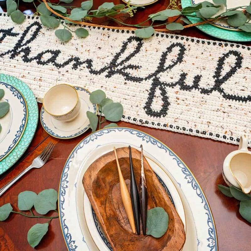 Thankful table crochet crochet