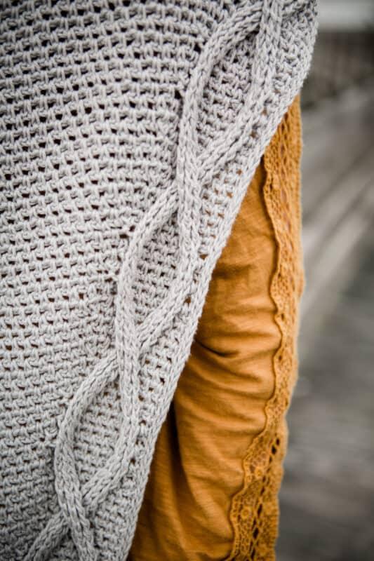 Infinity spring crochet shawl pattern