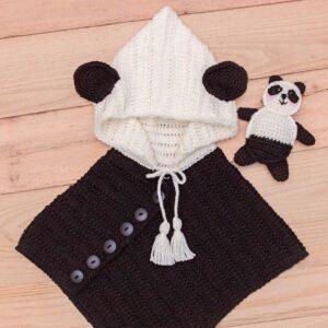 panda crochet poncho pattern