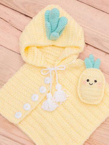 pineapple crochet poncho pattern