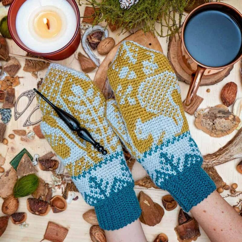 Squirrel Mitten Pattern by Briana K