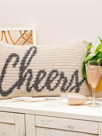 Cheers Crochet Pillow Pattern