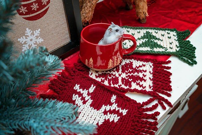 Holiday Mug Rug Knit