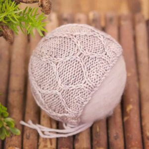 baby knit bonnet