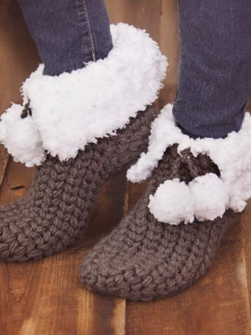 Quick and Cozy Slippers Crochet Pattern