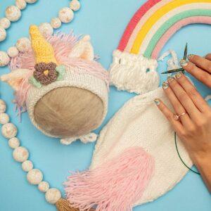 Unicorn Baby Knit Outfit Pattern
