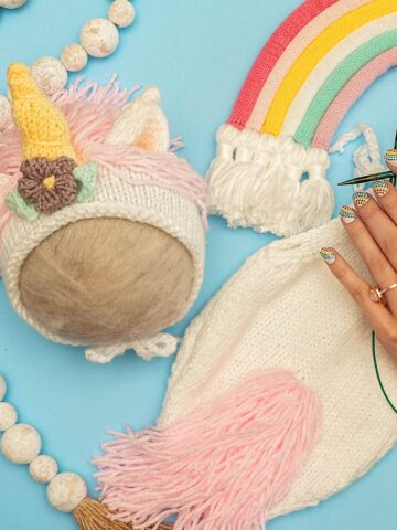 Unicorn Baby Knit Outfit Pattern